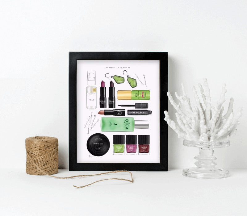 8x10-black frame with archival print - Art Print Club