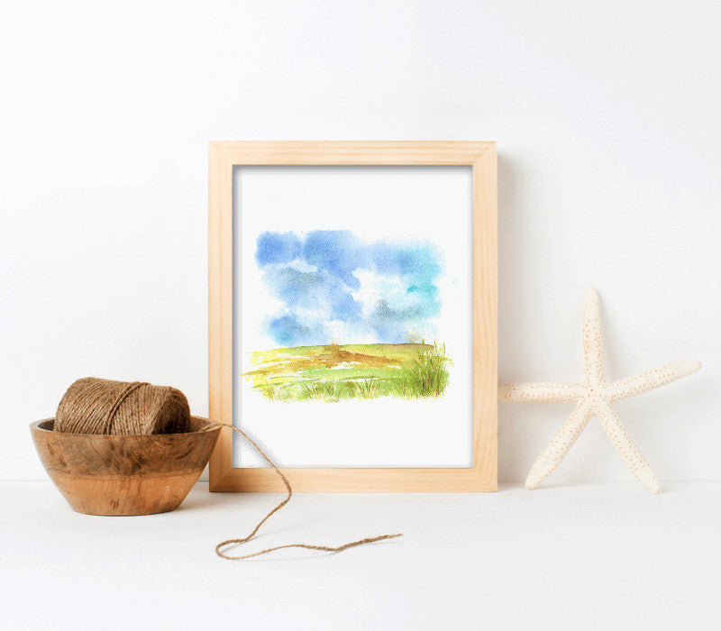 8x10-Natural pine frame with archival print-t - Art Print Club