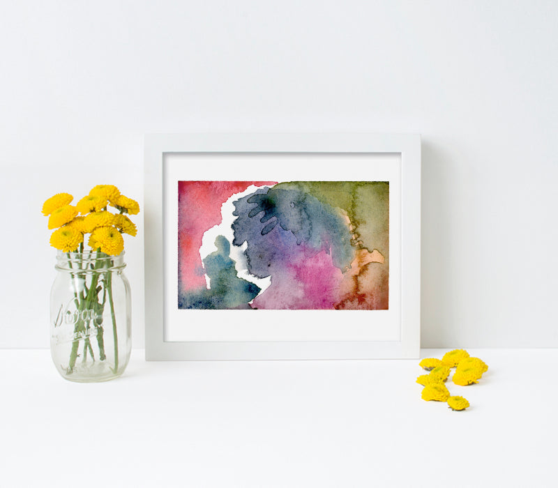 10x8-White frame with archival print_t - Art Print Club