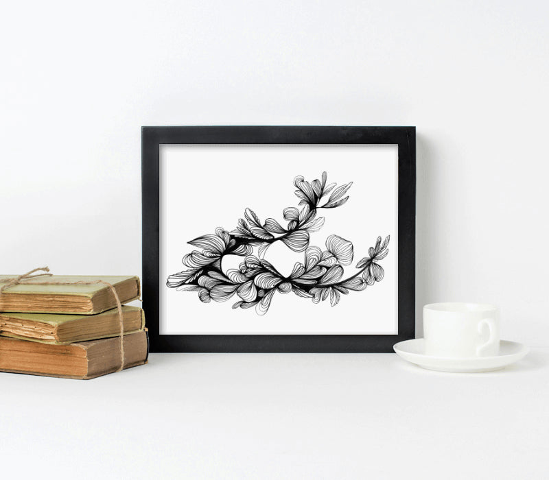 10x8-Black frame with archival print-t - Art Print Club
