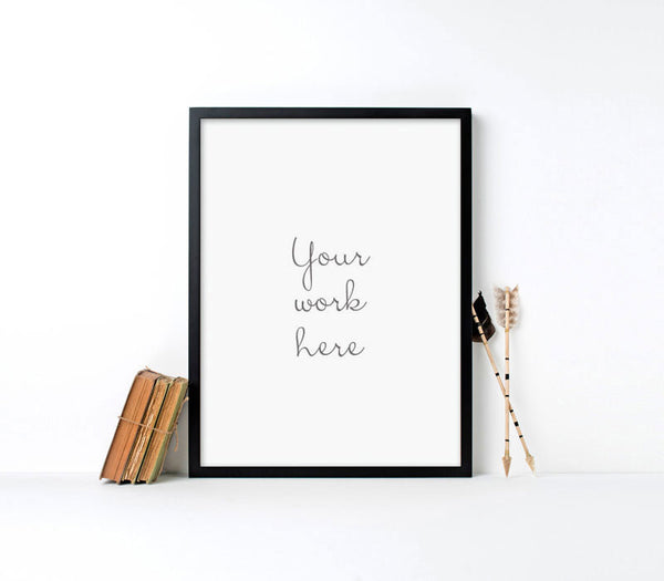 Modern Black Wood Parker Frame for Custom Printing - Art Print Club