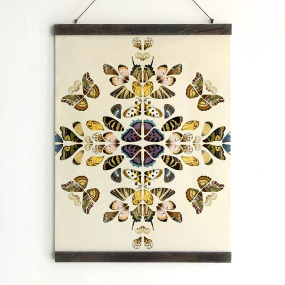 Butterflies Kaleidoscope Canvas - Art Print Club