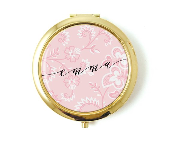 Personalized Floral Bridesmaid Pocket Watch