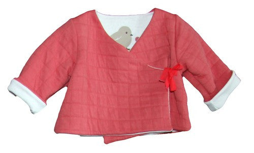 Petit Bateau Baby Girl Long Sleeve Crossover Top