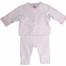 Petit Bateau Baby 2 Pc Reversible Set Long Sleeve Top and Pants