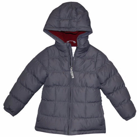 Petit Bateau Girls Puff Coat with Hood