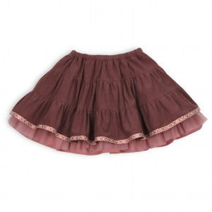 Troizenfant Sarah Girl's Velvet Skirt with Tutu
