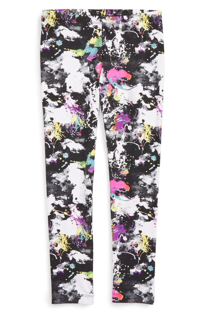 Flowers by Zoe - Girl's 'Splatter' Leggings (Toddler Girls & Little Girls)