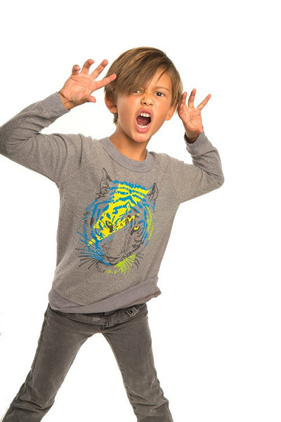 Chaser 'Tiger' Long Sleeve Sweatshirt (Toddler Boys, Little Boys & Big Boys)