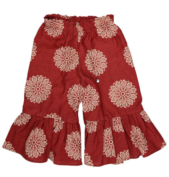 Persnickety Baby Girl's Red Gaucho Pant