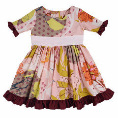Persnickety Girl's Pink Tea Party Dress