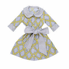 Persnickety Girl's Yellow Swiss Dress