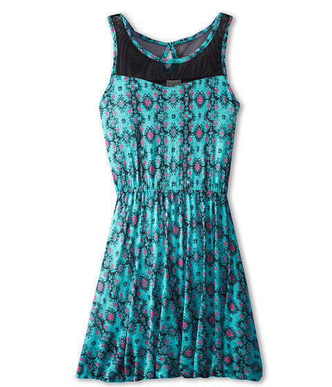 Ella Moss Caspian Print Dress (Kid) - Aqua