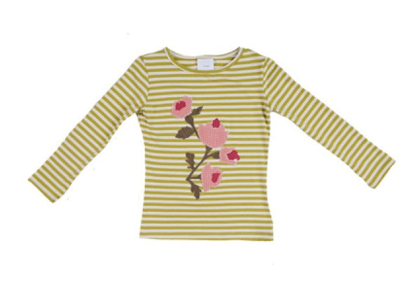 Persnickety Girl's Green Long Sleeve Basic Tee