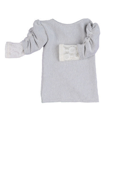 Persnickety Girl's Grey Fannie Top