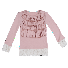 Persnickety Girl's Pink Lola Top