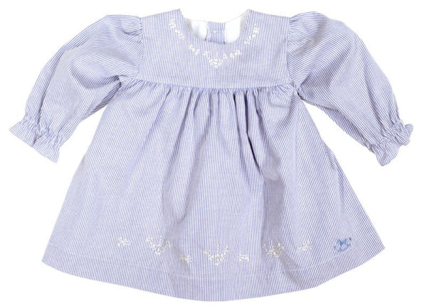 Blu Pony Vintage Baby Blu Pin Stripe Dress LS2