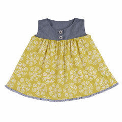 Persnickety Girl's Yellow Avery Top