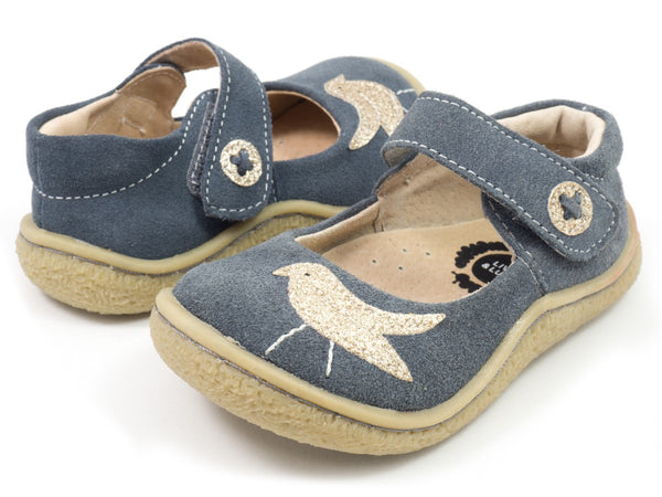 Livie & Luca Girl's Gray Pio Pio Gray Shoes