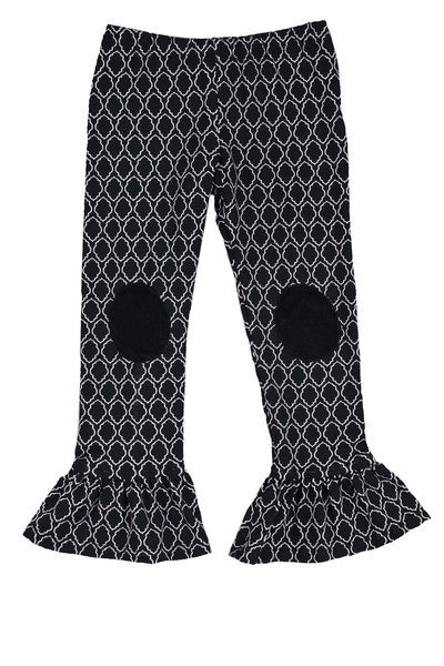 Persnickety Girl's Black Single Ruffle Legging