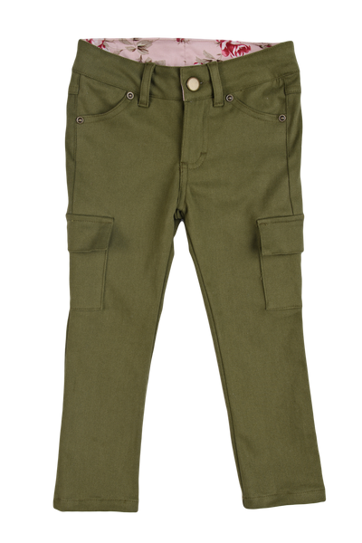 Persnickety Girl's Green Denim Skinny Jean
