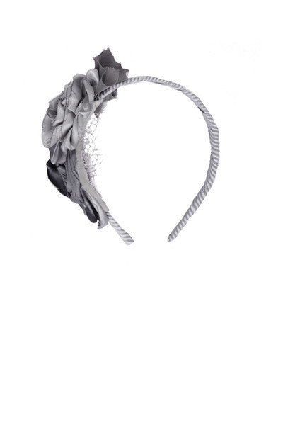Persnickety Girl's Grey Annabelle Headband