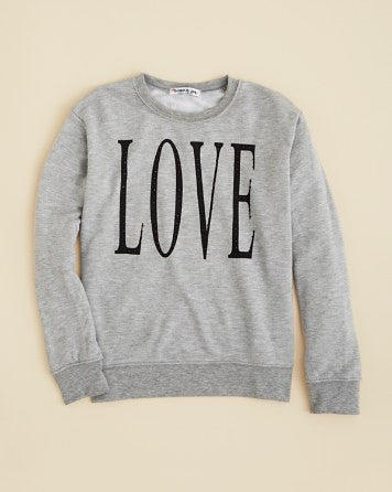 Flowers by Zoe - Grey Love Sweatshirt