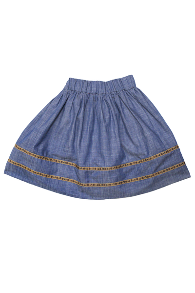 Blu Pony Vintage Girl's Annie Chambray Skirt