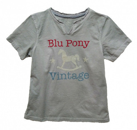 Blu Pony Vintage Boys Cotton Tee