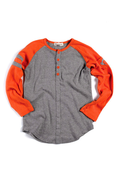 Appaman - Boy's Long Sleeve Baseball Henley T-Shirt