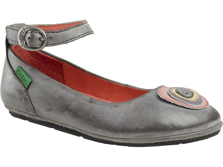 Kickers Dora Grey Mary Jane Shoes