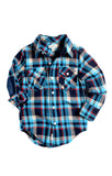 Appaman - Boy's Blue Plaid Flannel Shirt