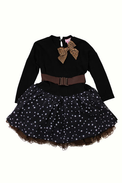 Monnalisa Girl's Star Dress with Tutu Skirt