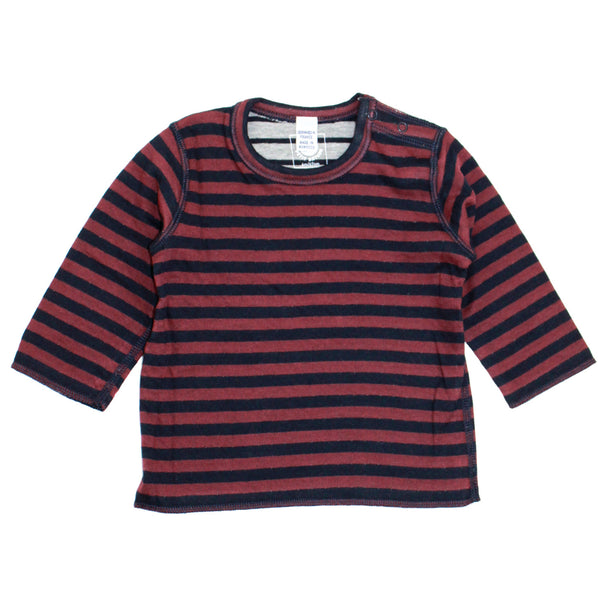Petit Bateau Reversible Navy Striped T-Shirt