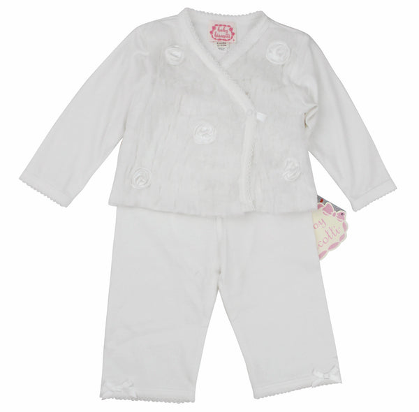 Kate Mack Baby Girl's Wrap Top & Pant Set
