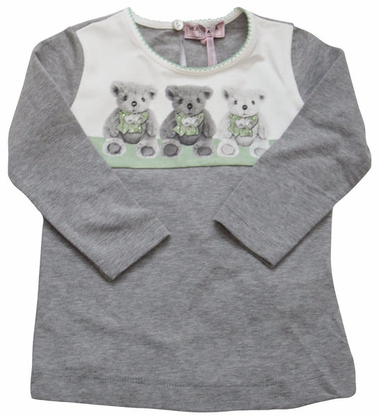 Monnalisa St. Orsetti Baby Girl's Long Sleeve T-Shirt