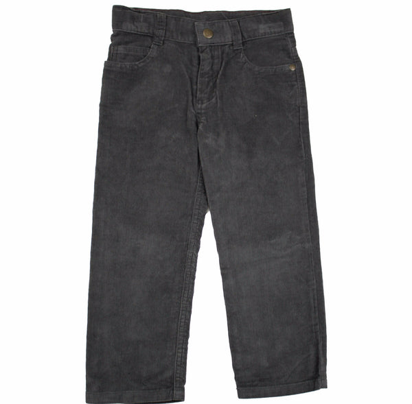 Petit Bateau Boys Dark Grey/ Navy Corduroy Pants