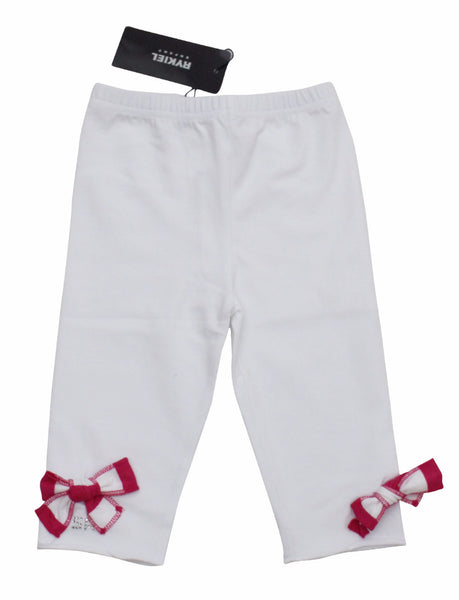Sonia Rykiel Enfant Pants with Striped Pink Bows