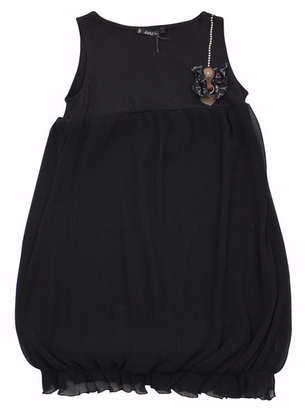 Monnalisa Sleeveless Girl's Black Jakioo Dress