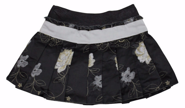 Monnalisa Girl's Black Cream Taffetta Tutu Skirt