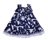 Monnalisa Baby Girl's Navy Summer Dress