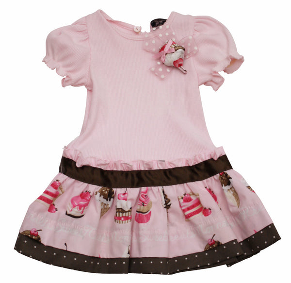 Monnalisa Designer Baby Girl's Summer Pink Cotton Dress