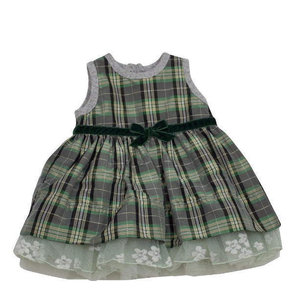 Monnalisa Baby Girl's Plaid Tutu Dress