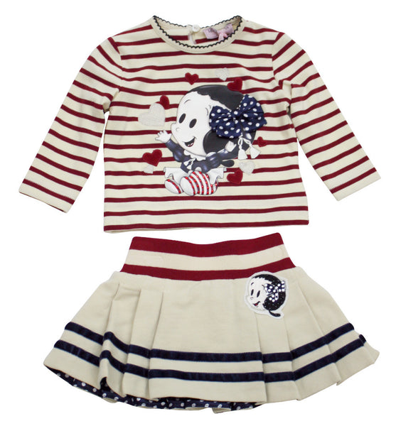 Monnalisa Baby Girl's Fun Top and Skirt Set