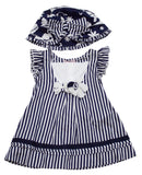 Monnalisa Designer Chic Navy Summer Dress