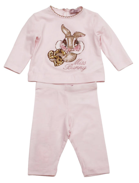 Monnalisa Baby Girl Top and Pant Set