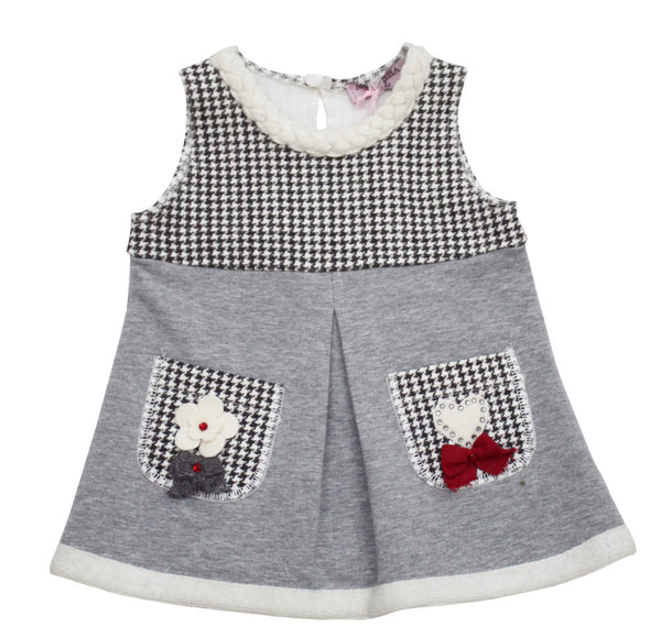 Monnalisa Baby Girl's Wool Dress and Cardigan Set