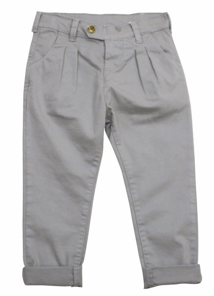 Monnalisa Girl's Khaki Grey Pants