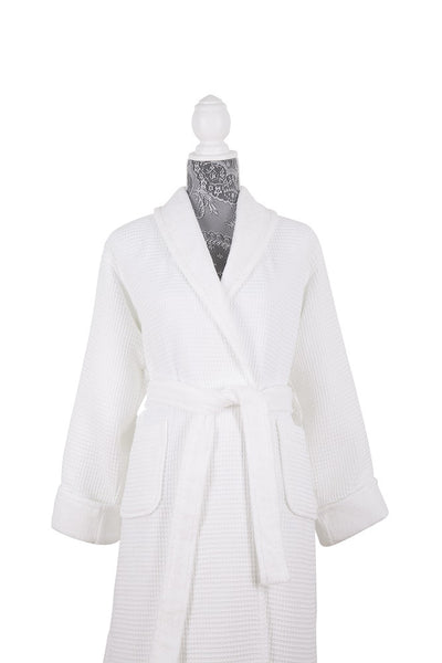 Moss Verbena Double Face %100 Cotton/Terry Spa Turkish Unisex Bathrobe with Sleepers Set