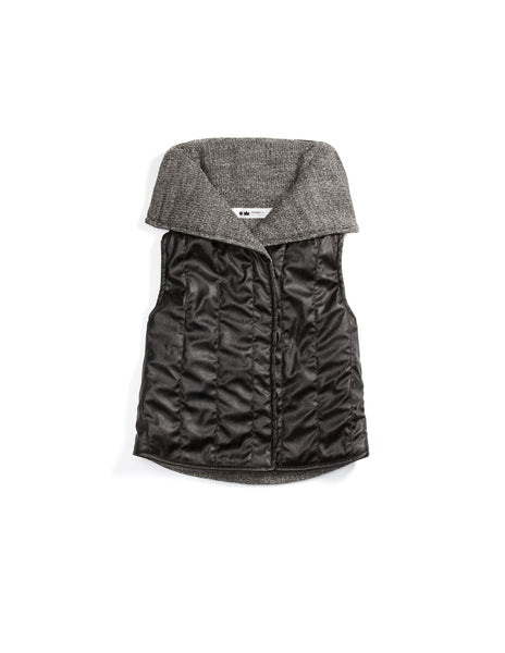 OmamiMini - Faux Leather Quilted Vest